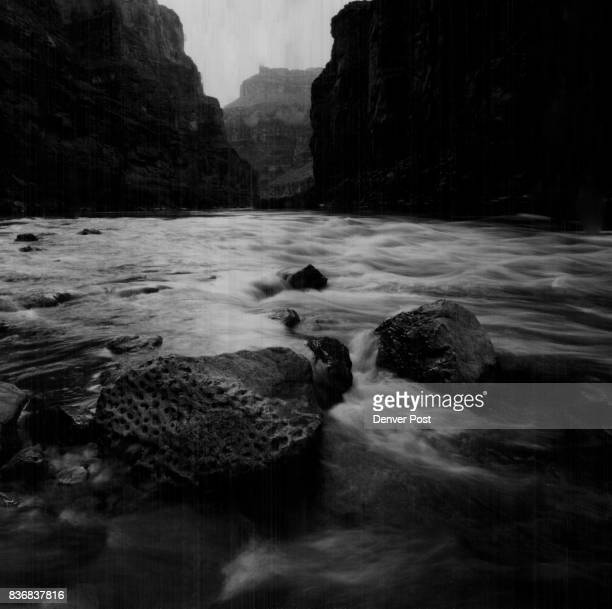The frothy Colorado River swirls near Cove Canyon in the Grand Canyon one of the world's great natural wonders A major exhibition on the canyon...