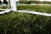 The FSV Mainz 05 U17 team attends a training session at the Bruchweg stadium artificial turf training ground on October 3 2009 in Mainz Germany The...