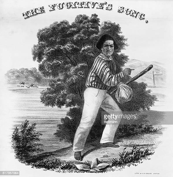 Frederick Douglass antislavery song Engraving 1845