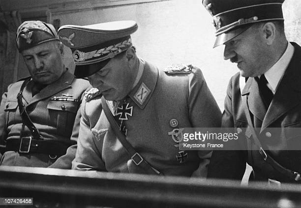 The Fuhrer And The Duce In Goring In Germany On August 30Th 1941