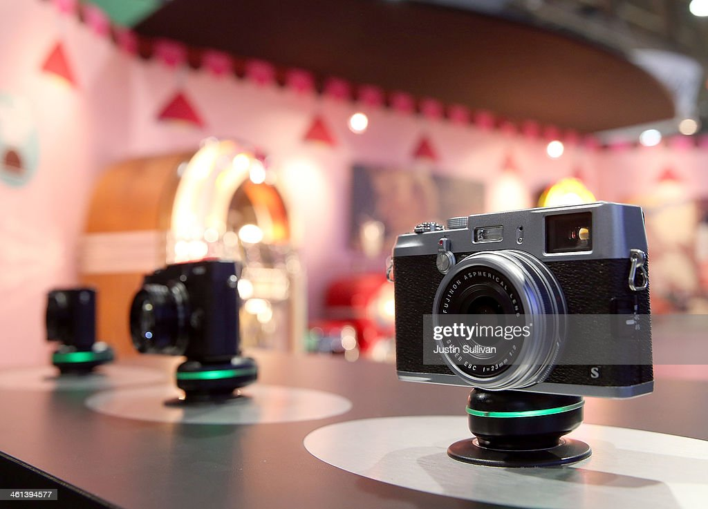 The Fujifilm FinePix X100 is displayed in the Fujifilm booth at the 2014 International CES at the Las Vegas Convention Center on January 8, 2014 in Las Vegas, Nevada. CES, the world's largest annual consumer technology trade show, runs through January 10 and is expected to feature 3,200 exhibitors showing off their latest products and services to about 150,000 attendees.