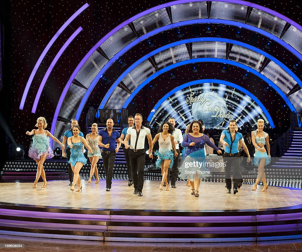 The full cast attend a photocall ahead of the Strictly Come Dancing Live Tour at NIA Arena on January 17, 2013 in Birmingham, England.
