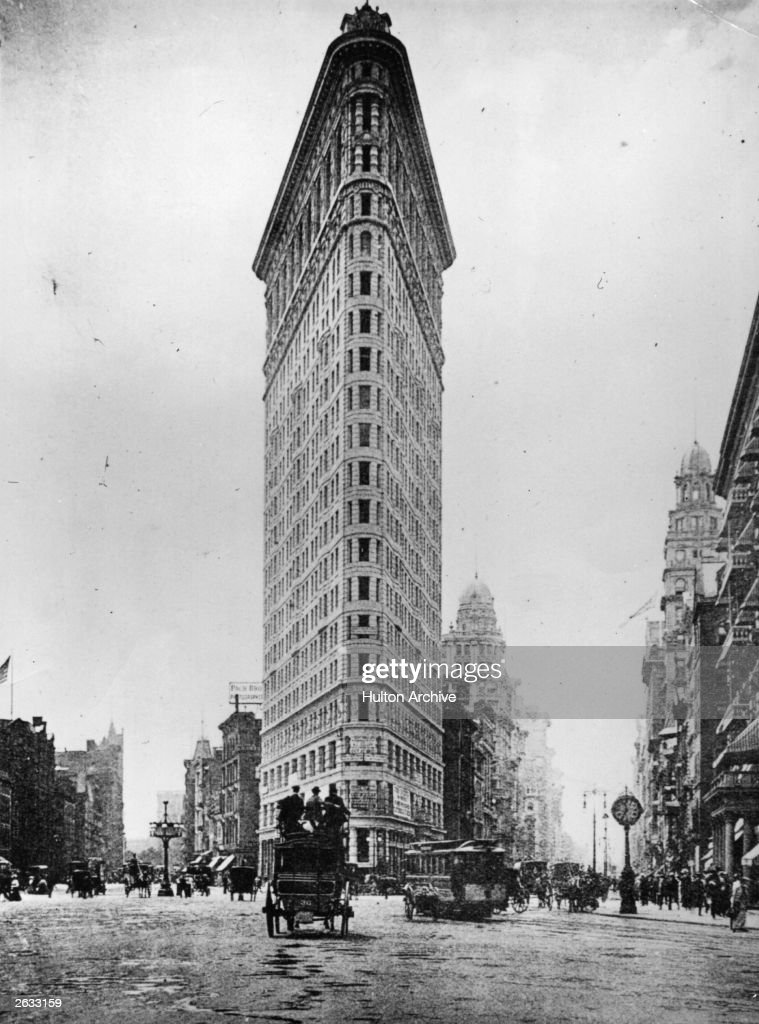 The Fuller Building known as the 'Flatiron' Building in New York City It was designed in 1902 by Daniel Burnham