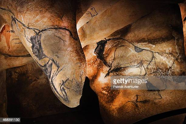 The fullsize reproduction of Chauvet cave an underground environment identical to the original that contains the world's oldest known cave paintings...