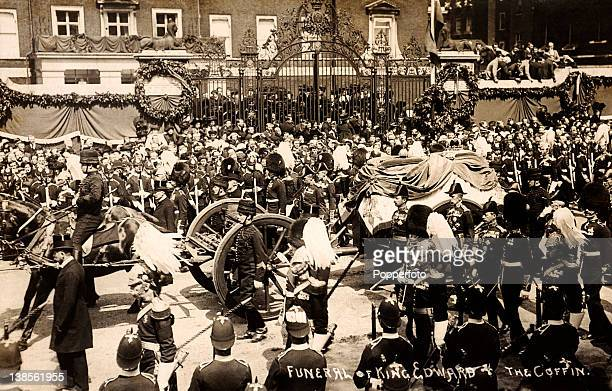 The funeral cortege of King Edward VII at Windsor on 20th May 1910
