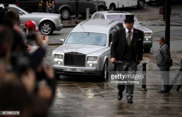 The funeral cortege of Manchester Attack victim Saffie Roussos arrives at Manchester Cathedral on July 26 2017 in Manchester England Saffie Rousso...