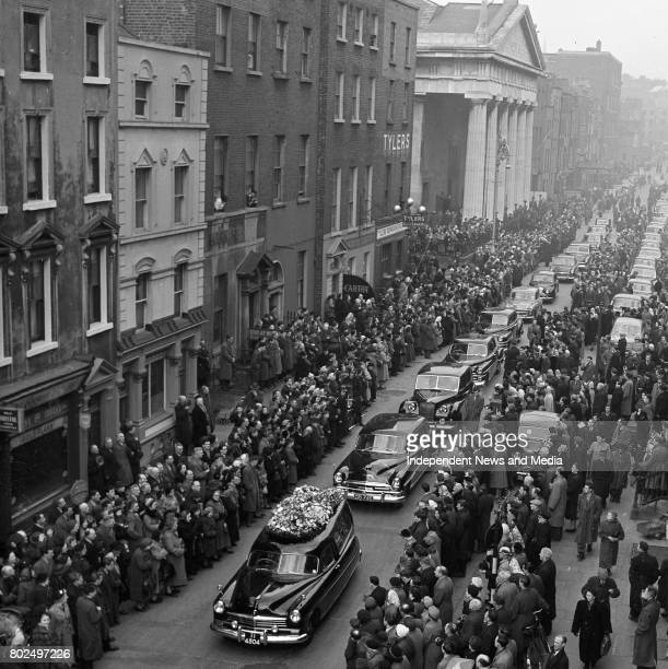The funeral of Alfred Byrne also known as Alfie Byrne an Irish nationalist politician who served as both an MP in the House of Commons of the United...