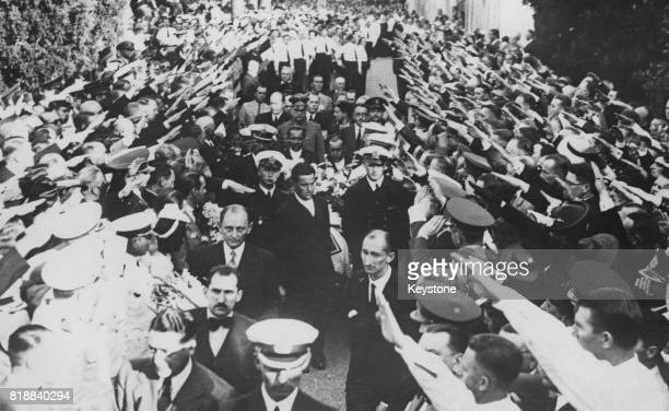 The funeral of Captain Hans Langsdorff commander of the German battleship 'Admiral Graf Spee' in the German cemetery in Buenos Aires Argentina 1st...