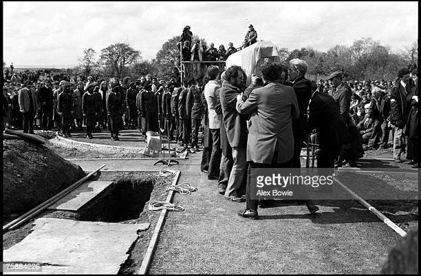 The funeral of IRA hunger striker Francis Hughes in Bellaghy in County Londonderry 15th May 1981 Hughes was the second person after Bobby Sands to...