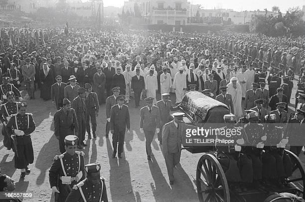 The Funeral Of King Mohammed V Of Morocco In Rabat Rabat 28 février 1961 funérailles du roi du Maroc MOHAMMED V décédé le 26 février 1961 le cortège...