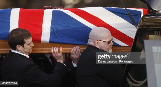 The funeral of Lance Corporal Tommy Brown who was killed by a bomb in Afghanistan three days before Christmas takes place at Glasgow Cathedral