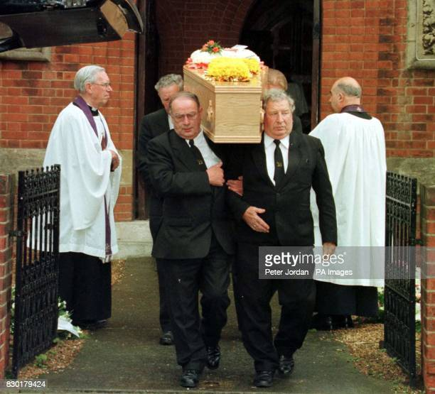 The funeral of Nicholas Moore one of the victims of the Soho nail bomb attack at the Admiral Duncan pub in Old Compton Street on May 1st 1999 The...