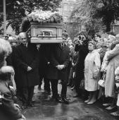 The funeral of Rolling Stones guitarist Brian Jones at St Mary's Parish Church Cheltenham 10th July 1969