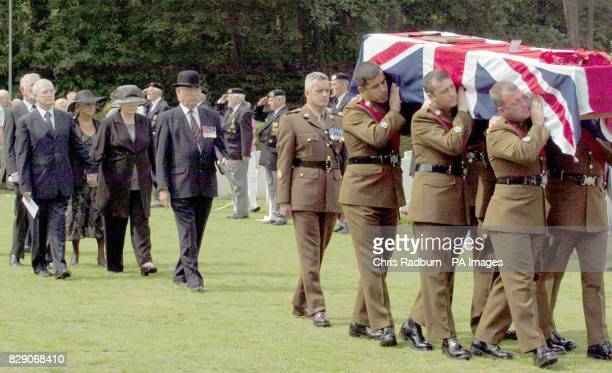 The Funeral of Sgt Major Evan Davies a soldier of the 3rd Bn Monmouthshire Regiment was held with full Military honours almost 60 yrs after his death...