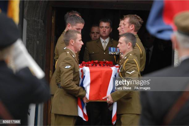 The funeral of soldier Joshua Hammond at St Andrew's Church Plymouth