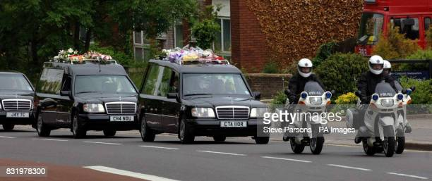 The funeral procession of murdered Special Constable Nisha PatelNasri makes it way past Wembley Police Station in North West London as it makes its...