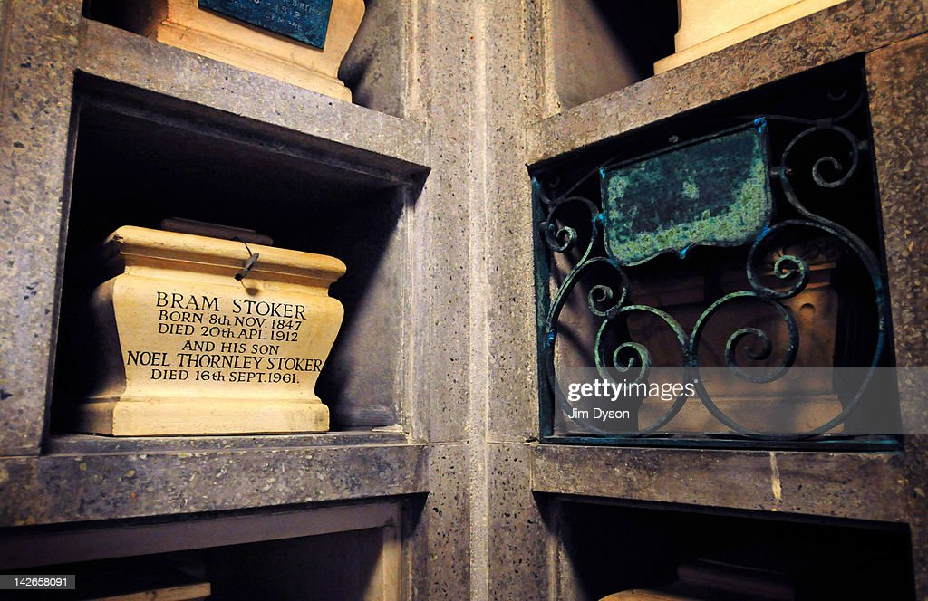 The funerary urn containing the ashes of writer Bram Stoker sits in a niche in the East Columbarium at Golders Green Crematorium on November 17, 2008 in London, England. Stoker, who died on April 20, 1912, is best known for his 1897 horror novel 'Dracula', which helped to establish the legend of the modern day fictional vampire.