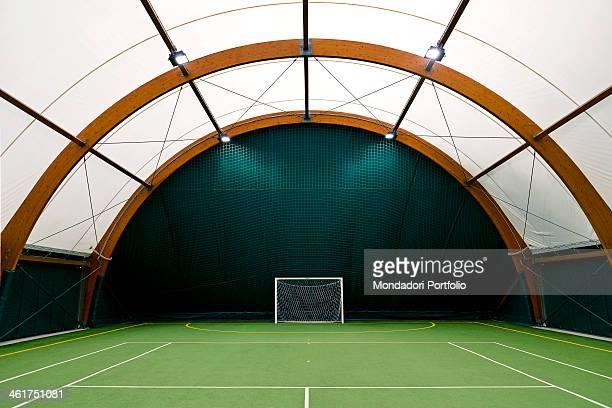 The futsal pitch at the Mediolanum Tennis Milan Italy 2013