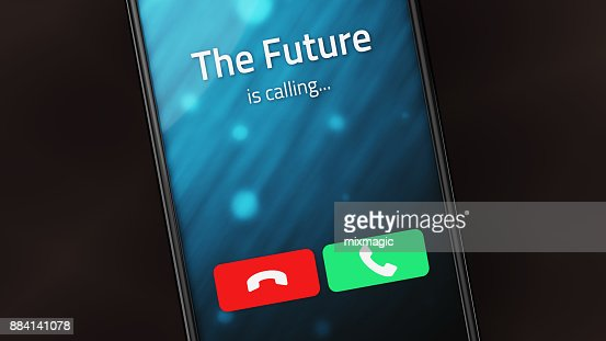 The Future is Calling : Stock Photo
