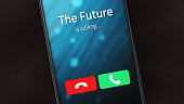 Incoming call from The Future on a smartphone