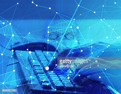 The future of human science and technology, digital technology, scientific and technological progress : Stock Photo