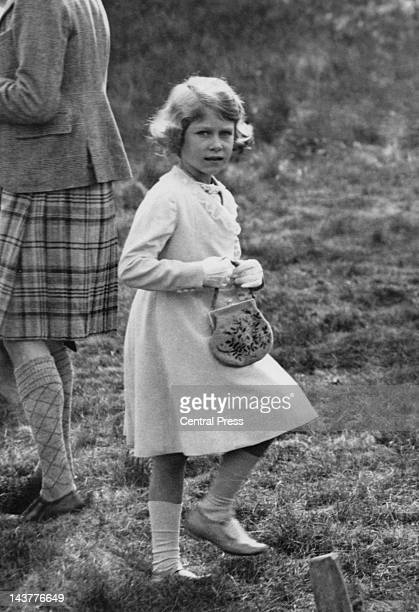 The future Queen Elizabeth II at Abergeldie Castle in Scotland at the age of seven 1933