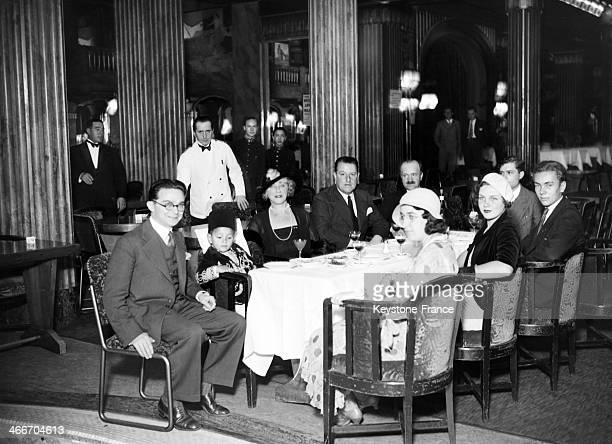 The future Sultan Hassan II of Morocco at Lido cabaret on the Champs Elysees on September 19 1932 in Paris France