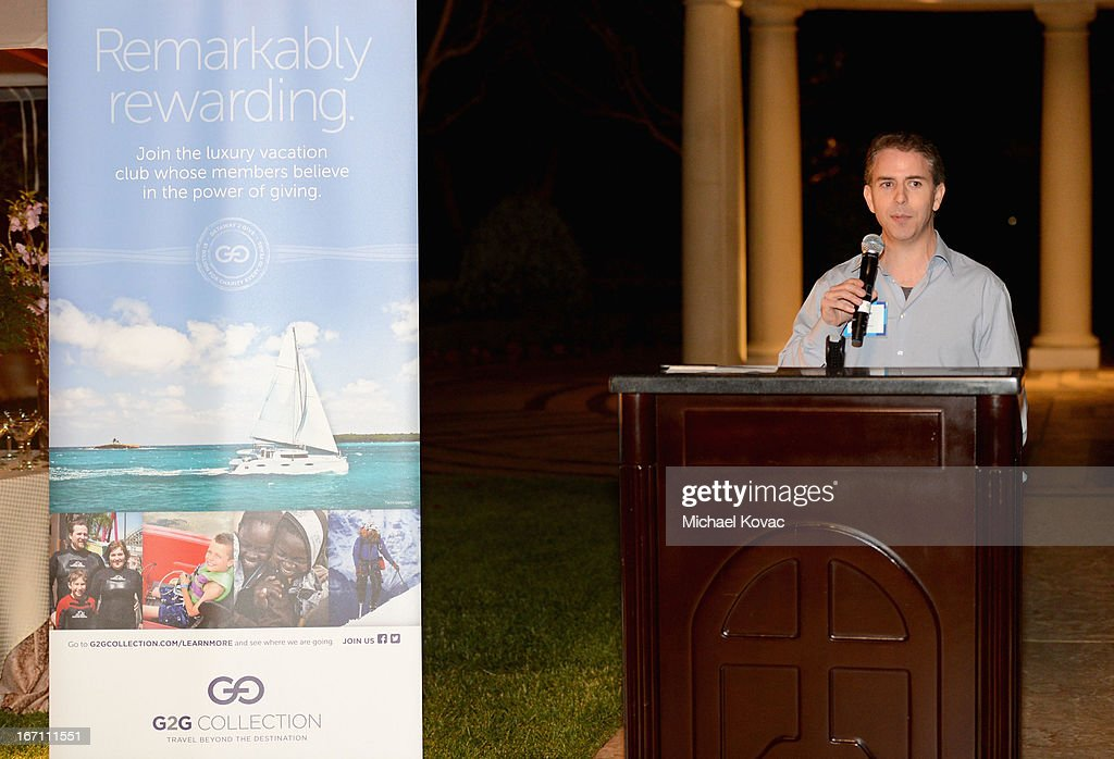 The G2G Collection President Adam Capes speaks during The American Express Publishing Luxury Summit 2013 at St. Regis Monarch Beach Resort on April 20, 2013 in Dana Point, California.