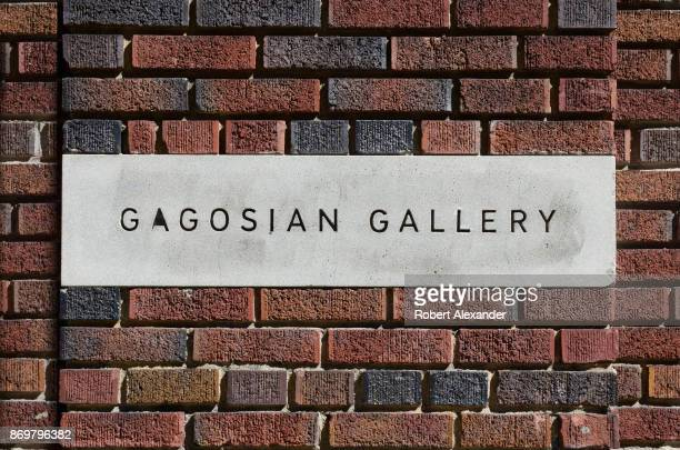 The Gagosian Gallery is among the numerous art galleries in the Chelsea district of New York City