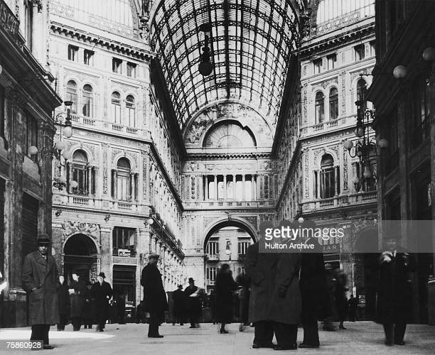The Galleria Umberto in Naples Italy circa 1935 Designed by Emanuele Rocco the gallery was completed in 1891