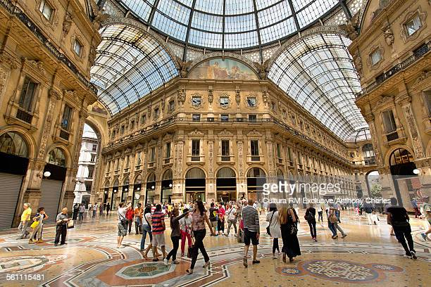 The Galleria Vittorio Emanuele shopping mall, Milan, Italy