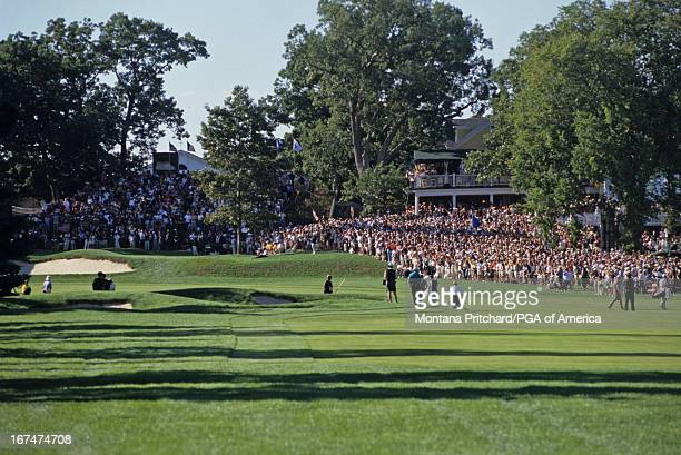 the gallery and golf course maintenance at the 33rd Ryder Cup Matches held at The Country Club in Brookline Massachusetts Sunday September 26 1999