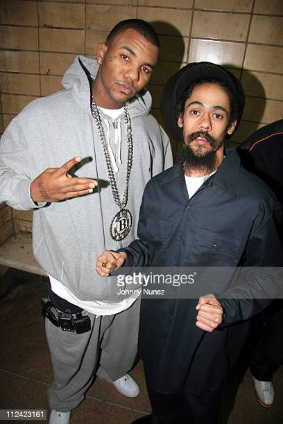 The Game and Damian Marley during Nas and Damien Marley 'Road to Zion' Video Shoot October 26 2005 at In a correctional facility in Queens in New...