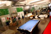 The game room of Google's headquarters in Manhattan NY on August 22 2013