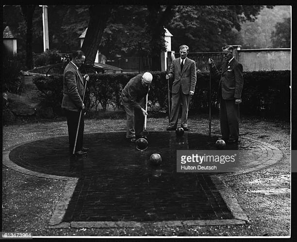The Game That Gave Its Name To Pall Mall Unique in Britain and probably the world is the court in the grounds of the Freemason's Arms Downshire Hill...