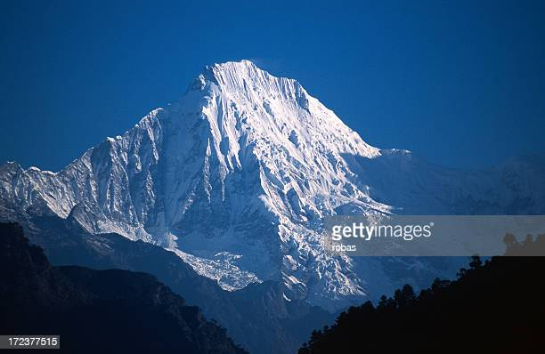 The Ganesh Himal covered in snow