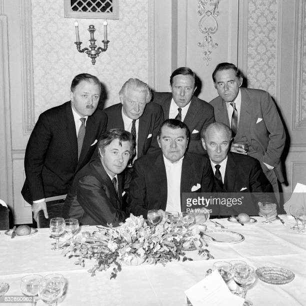 Back Row Richard Attenborough Roger Livensey Norman Bird and Terence Alexander Front Row Bryan Forbes Jack Hawkins and Nigel Partick Cafe Royal...
