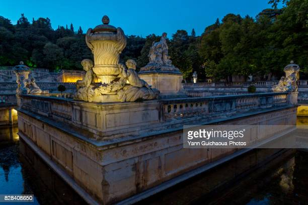The garden, jardins de la Fontaine, Nimes, Gard, France