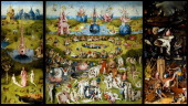 'The Garden of Earthly Delights' a triptych of paintings by Hieronymus Bosch Dating from between 1490 and 1510 when Bosch was between 40 and 60 years...
