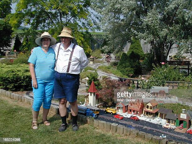 The garden of Ross and Bernice Webster on the Sixth Line of Halton Hills northwest of Hornby is one of about 20 in Ontario that feature model trains...