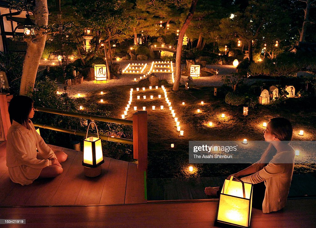 The garden of Torin-In is illuminated on October 4, 2012 in Kyoto, Japan. The illumination will be held October 5 to 14.