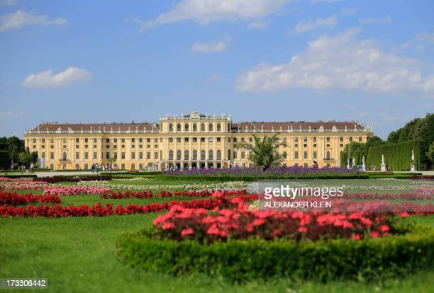 The gardens and flowers of the Schonbrunn Palace are seen on a sunny day in Vienna on July 11 2013 AFP PHOTO / ALEXANDER KLEIN
