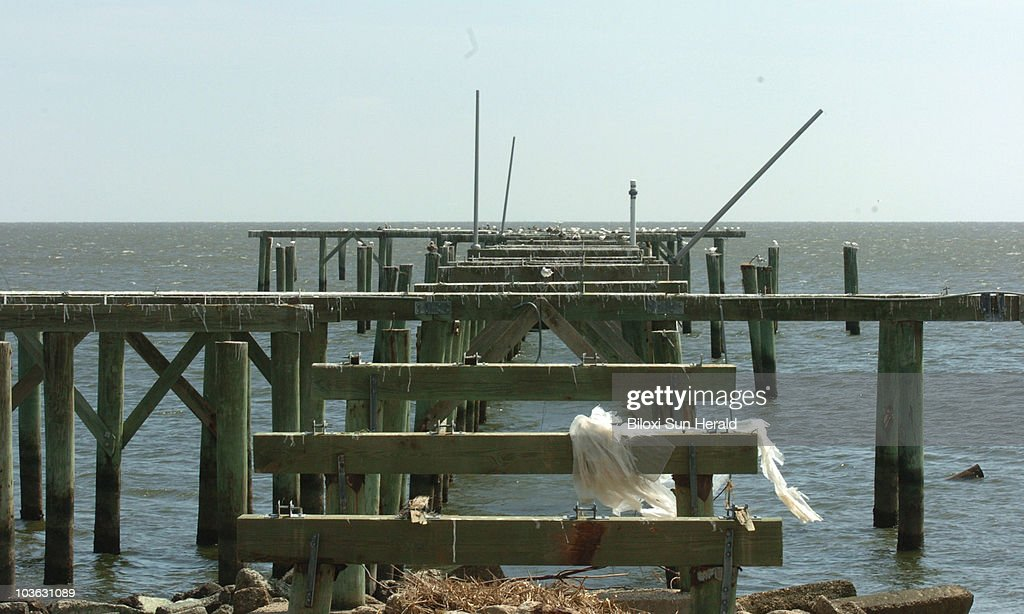 The Garfield Ladner Memorial Pier in Waveland Mississippi is shown in October 2005 about two weeks after Hurricane Katrina hit the area EDS NOTE This...