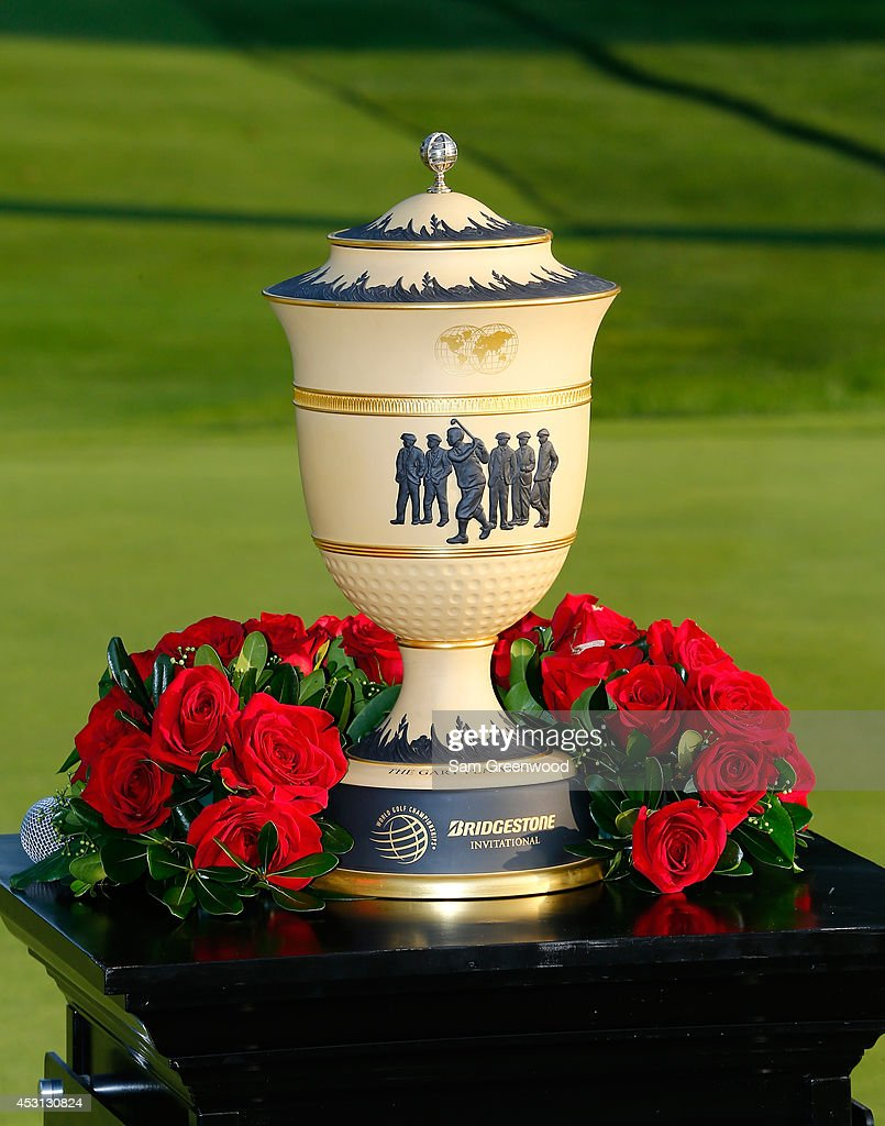 The Gary Player Cup trophy sits on display during the final round of the World Golf Championships-Bridgestone Invitational at Firestone Country Club South Course on August 3, 2014 in Akron, Ohio.