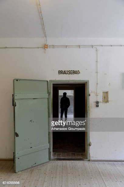 The gas chamber at Dachau inside the new crematorium and it may have been tested on prisoners but there was no largescale murder of prisoners there...