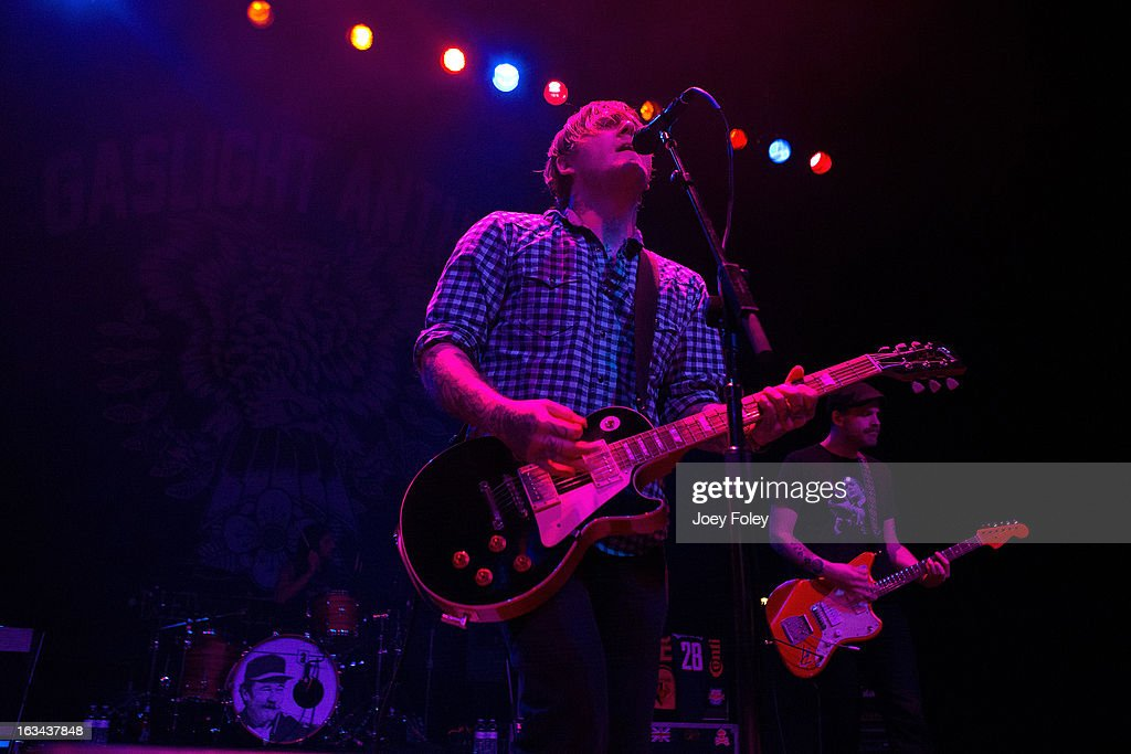 The Gaslight Anthem performs in concert at Egyptian Room at Old National Centre on March 2, 2013 in Indianapolis, Indiana.