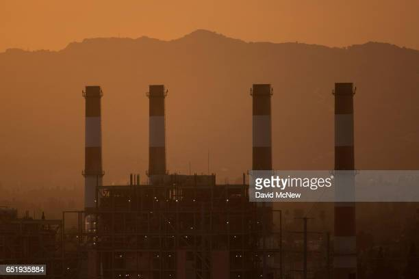 The gaspowered Valley Generating Station is seen in the San Fernando Valley on March 10 2017 in Sun Valley California Atmospheric carbon dioxide...