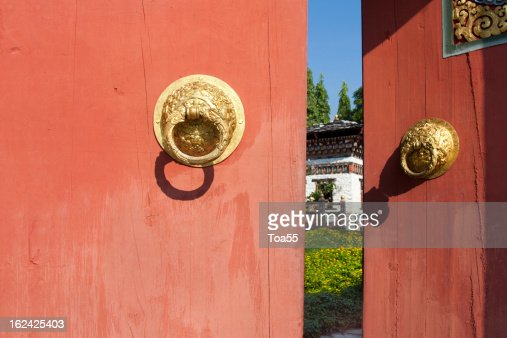 The gate bhutan style : Stock Photo