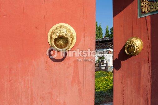 The gate bhutan style : Stock Photo