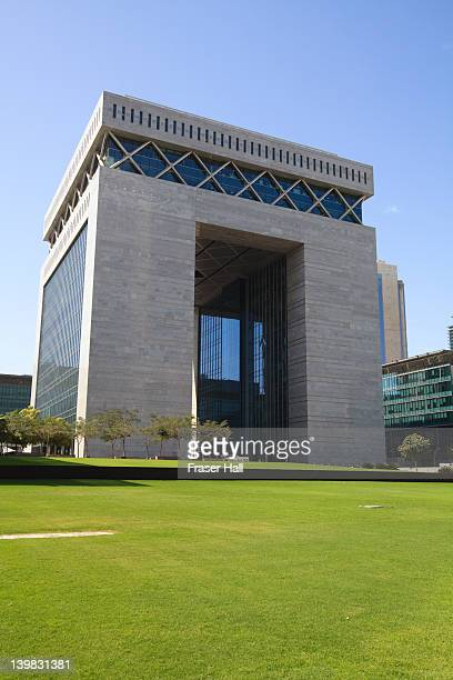 The Gate Building is the hub of the Dubai International Finance Center or DIFC, housing the Stock Exchange and many international finance houses, Dubai, United Arab Emirates